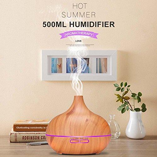 lzndeal 550 ML Humidificador de Niebla Fresco Difusor Ultras/ónico de Aceite Esencial de Aroma 7 Cambios de Color para el Hogar de la Oficina