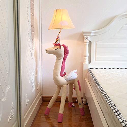 De kinderstaande lamp met diermotieven en diermotieven voor meisjes, schattig, creatief hoofdbord ter bescherming van de ogen, verticale tafeldecoratie.