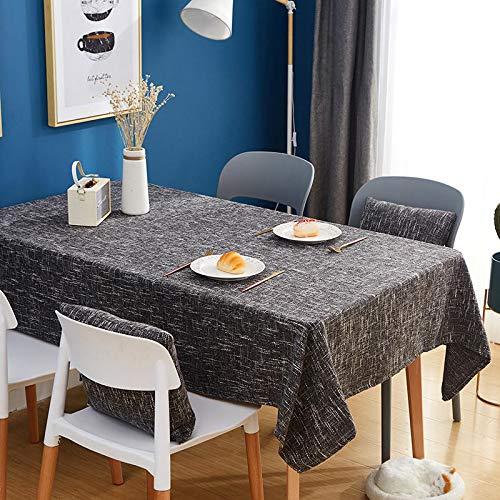 Mantel de lino, Color Puro Mantel Rectangular, Impermeable