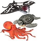 Kid Galaxy 9' Poseable Ocean Action 3 Pack - Sea Animal Edition (Turtle, Manta Ray, Octopus)