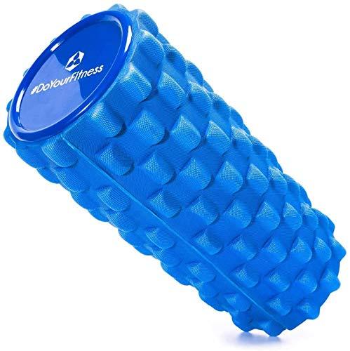 #DoYourFitness® Faszienrolle ca. L 34 cm x D 14 cm | ideal zum Lösen von Verspannungen & Faszientraining - mittelharte Massagerolle | Fitnessrolle - für Rücken, Waden, Oberschenkel »Jatasura« blau