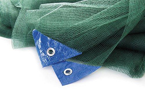 VERDELOOK Rete Quadra, Tessuto trifilo per la Raccolta delle Olive, 5x10 m, Verde