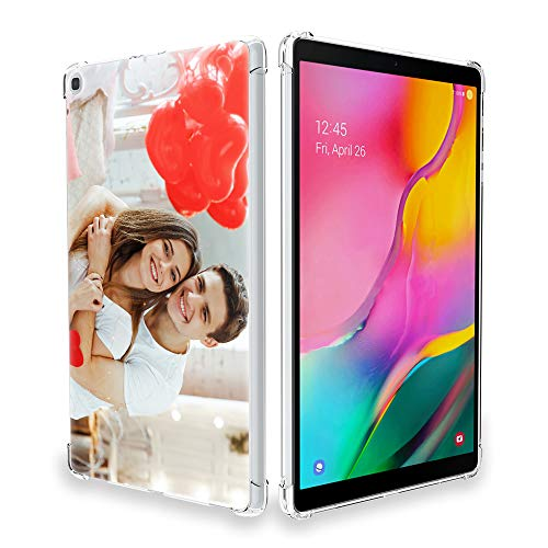 SHUMEI Compatible with Samsung Galaxy Tab A 10.1 T510/T515/T517 Case 2019 Personalized Photo Gift Shock Absorption Soft Transparent TPU Protective Cover DIY high-definition picture