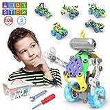 CENOVE STEM 5 IN 1 Bildungsbausteine Spielzeug für Junge, 109 Stück Konstruktionsspielzeug mit Elektromotor Geschenk für Jungen ab 5 6 7 8 9 10 Jahre