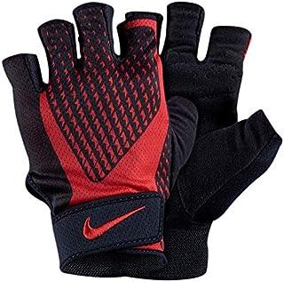 NIKE(ナイキ) トレーニング グローブ 黒/赤 フィットネス ジム ワークアウト エクストリーム 指なし手袋 [並行輸入品]