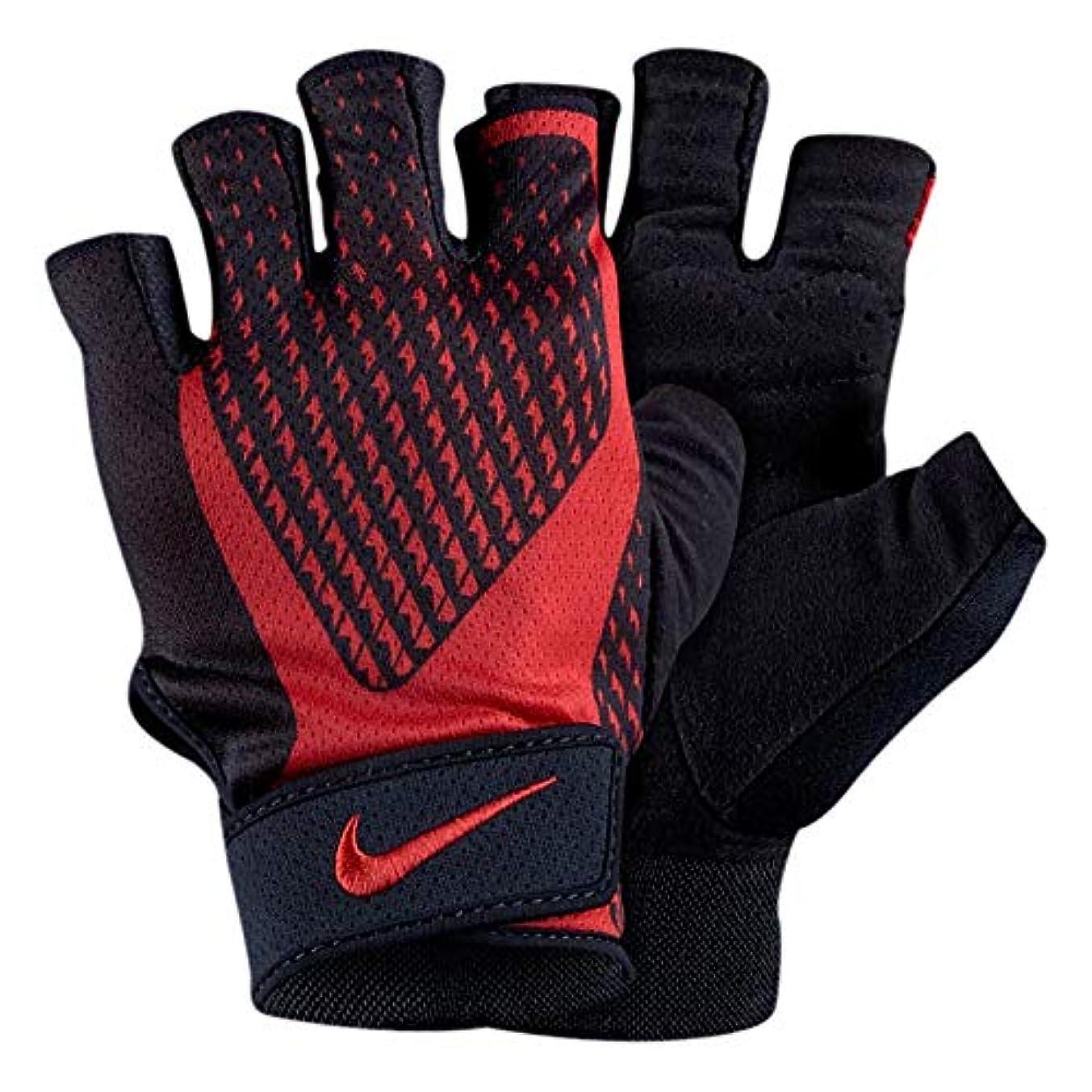肯定的独立して後方NIKE(ナイキ) トレーニング グローブ 黒/赤 フィットネス ジム ワークアウト エクストリーム 指なし手袋 [並行輸入品]