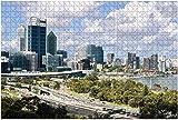 1000 piezas-Perth Australia Rompecabezas de madera DIY Niños Rompecabezas educativos Regalo de descompresión para adultos Juegos creativos Juguetes Rompecabezas Decoración para el hogar