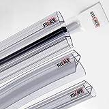 STEIGNER Juego de juntas de mamparas de ducha semicirculares para vidrio de 6-8 mm: 100cm semicirculares UK09 + Set 5