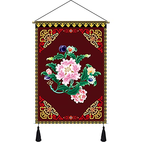 Boeddhisme Tibetaanse Tapijtophanging Pictures Tibetaanse Doek Kunst Painting Woonkamer Muur Decoratieve Schilderijen Kamer Naskeld Doek Painting Hanging Doek Gunstige acht schatten