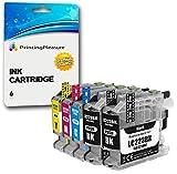 5 Cartuchos de Tinta compatibles para Brother DCP-J562DW, MFC-J480DW, MFC-J680DW, MFC-J880DW | LC-221