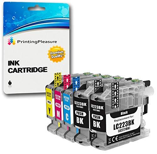 5 Druckerpatronen für Brother DCP-J562DW, MFC-J480DW, MFC-J680DW, MFC-J880DW | kompatibel zu Brother LC-221