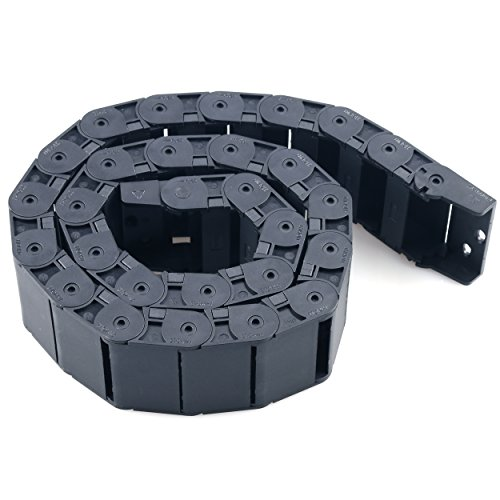 Cable Drag Chain URBEST 18mm x 50mm Wire Carrier 1 M/ 33Ft Plastic Black Towline Machine Tool