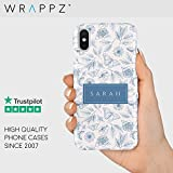 Personalised Name Custom Hard Phone Case Butterflies iPhone 11,11 Pro, 11 Pro Max, X, Xs, Xr, Samsung