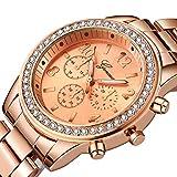 QWRjj Reloj de Pulsera Reloj Mujer Relojes Rhinestone Fashion Ladies Watch Reloj de Pulsera de Metal