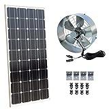 Dchouse Solar Power Attic Gable fan–100Watt pannello solare monocristallino modulo–65Watt–ventilatore portatile