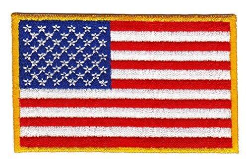 Bestellmich Flagge USA United States Aufnäher Bügelbild Patch Applikation