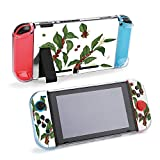 SUPNON Switch Case Compatible with Nintendo Switch Games Protective Hard Carrying Cover Case for Nintendo Switch Console Joy Con Controlle - Bundle of Botanical Drawings of Coffea Or Design40432