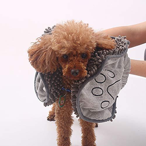 SJHP Saugfähige Handtücher für Haustiere, Chenille-Badetücher für Hunde und...