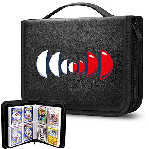 Raccoglitore per carte di credito con manica, organizer per il trasporto, compatibile con Pokemon/Yu-Gi-Oh/collezionisti di baseball, contiene fino a 400 carte