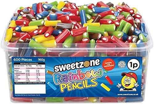 SweetZone 100% Halal Rainbow Pencils Candy ohne Schweinegelatine 1kg