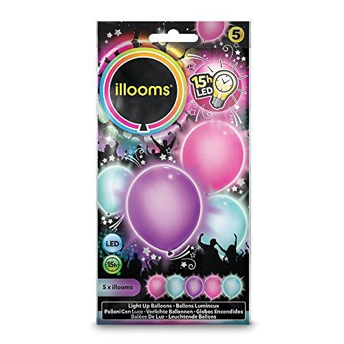 Illooms - 5 Globos: Rosa, Violeta, Azul , color/modelo surtido