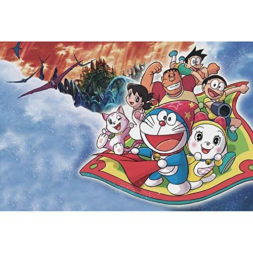 MAYL 300pcs 500pcs 1000pcs, Erwachsene Kinder aus Holz Puzzle Spielzeug, Linde Puzzle, Dekomprimierung Spiel Puzzles (Doraemon-Aladdin Magic Carpet) (Size : 500PCS-52 * 38cm)