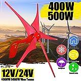 2020 400W/500W Controller Set 12V / 24V De La Energía Eólica Generador De Turbinas De Viento 5 Aspa De Molino De Viento Generador Solar Farola Boatfor Caliente Del Generador De Turbinas De Viento