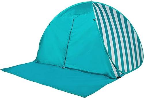 Tente de Plage de Pop Up Abri de Soleil, UPF 50 Prougeection, auvent instantané portatif Plage 3-4 Personnes