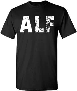 Cool Alf Hommes Tshirt Noir Herren Tshirt Schwarz Cadeau Retro 80's Sitcom Alf T-Shirt