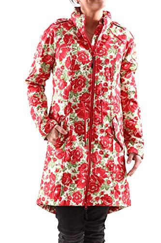 Blutsgeschwister Damen Softshellmantel Swallowtail Promenade Coat pink/Weiss - XXL