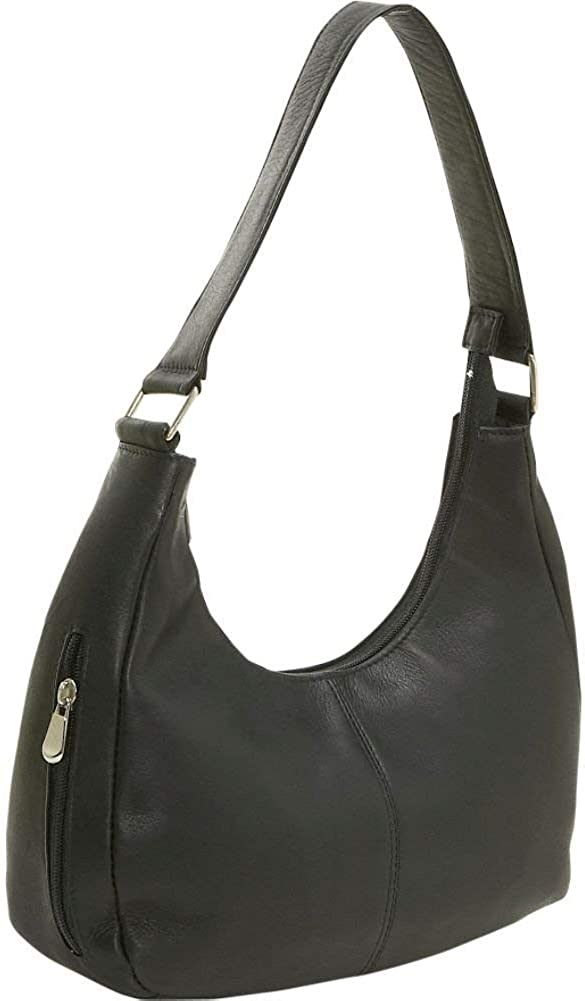 """Le Donne Leather Handcrafted Classic Hobo Women's Handbag, 12.5"""" x 10"""" x 4.5"""""""