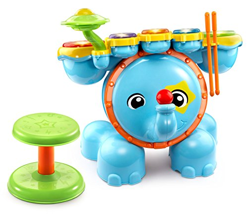 VTech Zoo Jamz Stompin' Fun Drums,Multicolor