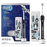 Oral-B Teen Brosse à Dents Électrique Rechargeable avec 1 Manche, Noir, 1 Brossette et 1 Étui de Voyage Exclusif Offert