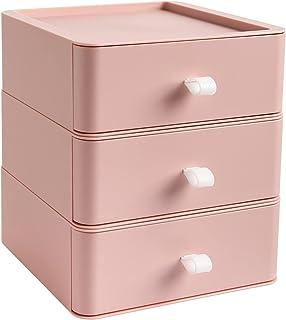 Rangement de bureau empilable avec tiroir pour accessoires de bureau, maquillage, masques, rouges à lèvres, salle de bain...