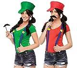 Fun World Women's Video Game Gal Instant Costume Kit, Green, Standard