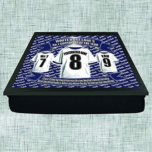Tottenham Football Shirt Personalised Lap Tray Gift