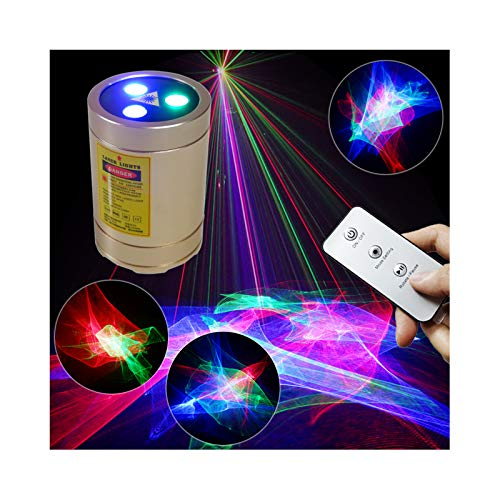 Chims DJ Lights, Rechargeable Remote Control Mini Laser Lights RGB Aurora Lighting Projector Party Laser Light Show Portable Cordless Music Activated Lights for House Stage DJ Dance Car Garden Holiday