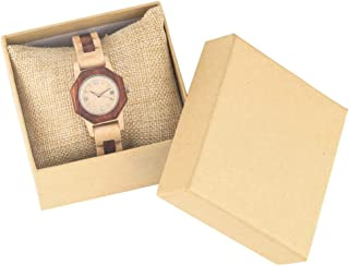 CAIDAI&YL Relojes para Mujer Movimiento de Cuarzo Reloj de Pulsera con Brazalete de Madera de Arce Natural Reloj de Madera...