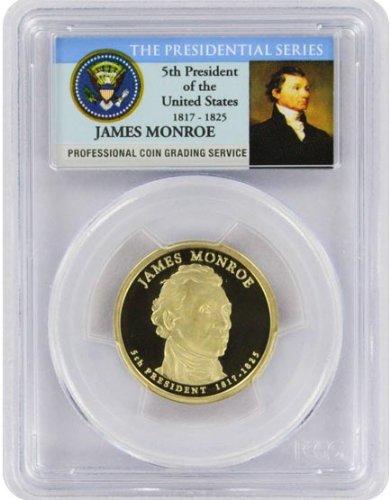 2008 Monroe Presidential S Proof Presidential Dollar PR-69 PCGS