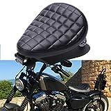 Moto Selle Bobber, siège de conducteur de moto en cuir noir pour Sportster quarante-huit 48 XL883...