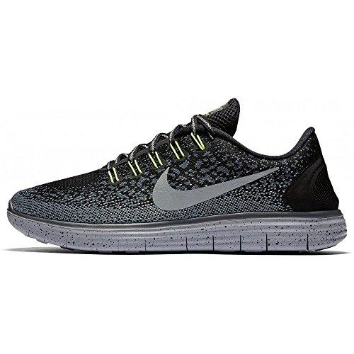 Nike Free RN Distance Shield Running Shoes Black / Gray, EU Shoe Size:EUR 40.5