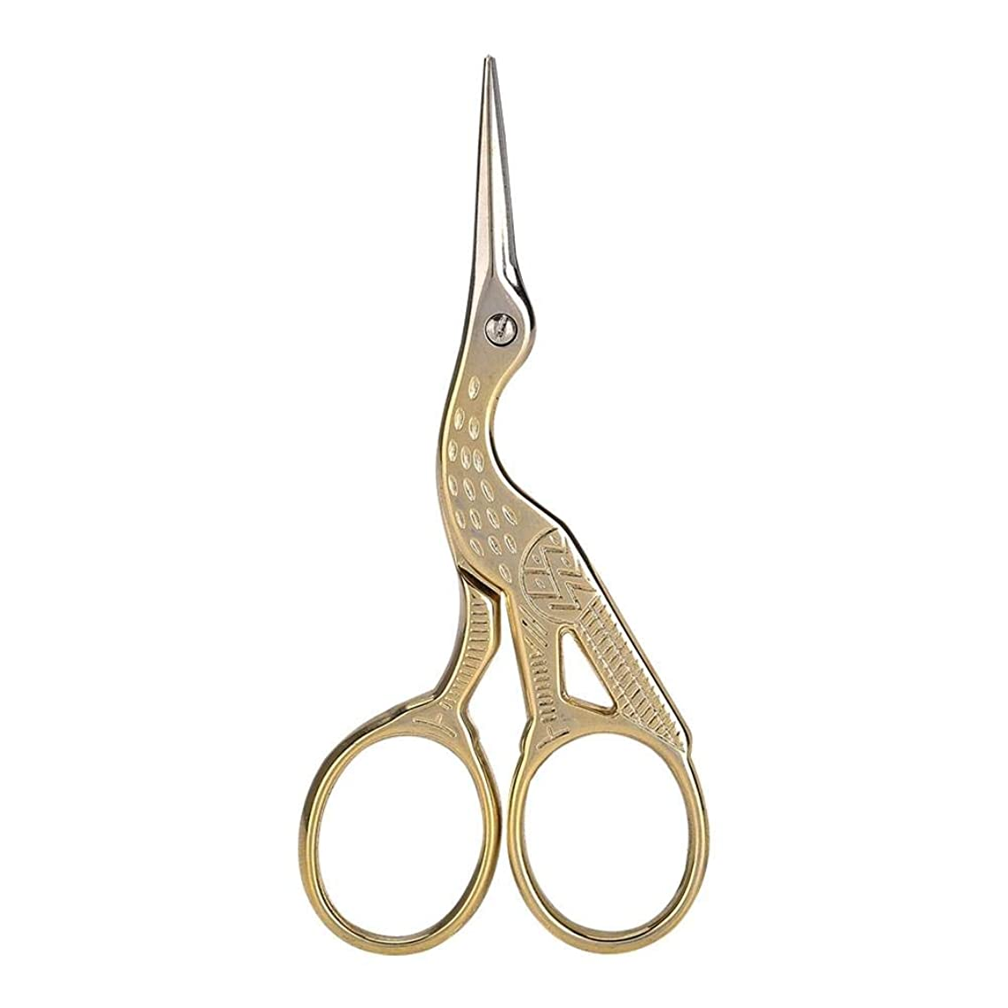 Alucy Professional Vintage Stainless Steel Precision Manicure Scissor-Nail Art Scissor,Manicure Shear Tools, Sewing Scissors Small Sharp for Crafting, Art Work,Needlework&Everyday Use (Gold)