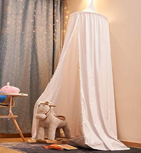 EUGAD Betthimmel Baby Kinder, Baldachin Bettvorhang Kinderzimmer, Deko für Kinderzimmer Schlafzimmer Spielzimmer, Moskitonetz Insektenschutz für Prinzessin und Prinz, Mädchen Junge Baby Kinder (weiß)