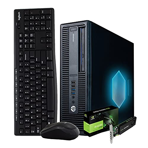 HP Computer for Editing, Workstation PC Desktop with Powerful 6th Gen Intel Core i5, NVIDIA Quadro K1200 4GB, 1TB SSD + 2TB HDD Additional Storage, 32GB DDR4 RAM, WiFi, Windows 10 (Renewed)