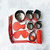 ODDO Slave Bondage Set Paare im Schlafzimmer Genießen Glücklich der Satz von Leder-Plüsch-Pyjamas Adjustable Bundle Set 8-teiliges Set Sunglasses