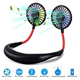 Hands-Free Portable Neck Fan,USB Rechargeable Mini Sports Personal Fan, 360°Rotation Wearable Hanging Fan for Outdoor Travel, Office, Family Sports