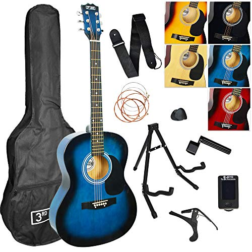 3rd Avenue Acoustic Guitar Premium Pack - Blueburst