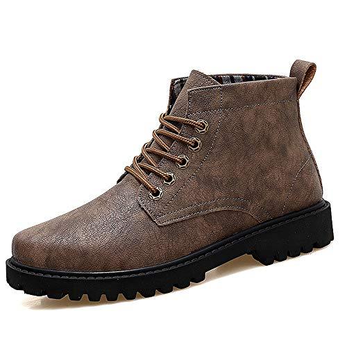 DIBAO Tobillo de Moda para Hombres Boot Casual Comfy Outsole Classical British Style High Top Boot (Color : Khaki, Size : 42 EU)