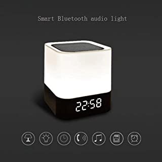 TDCQQ Bluetooth Speaker Lamp,Bluetooth Night Light Wireless Speaker with Colour Changing LED Mood Light,Support TF Card,USB Interface to Connect The Charging