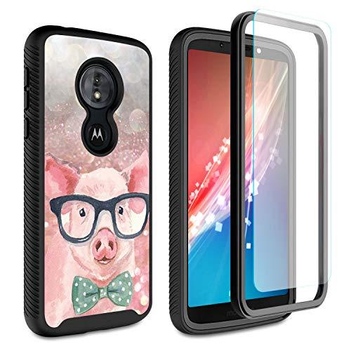 Rossy - Custodia protettiva per Moto E5 Plus, per Motorola Moto E5 Plus, con protezione schermo HD, antiurto, colore: Rosa